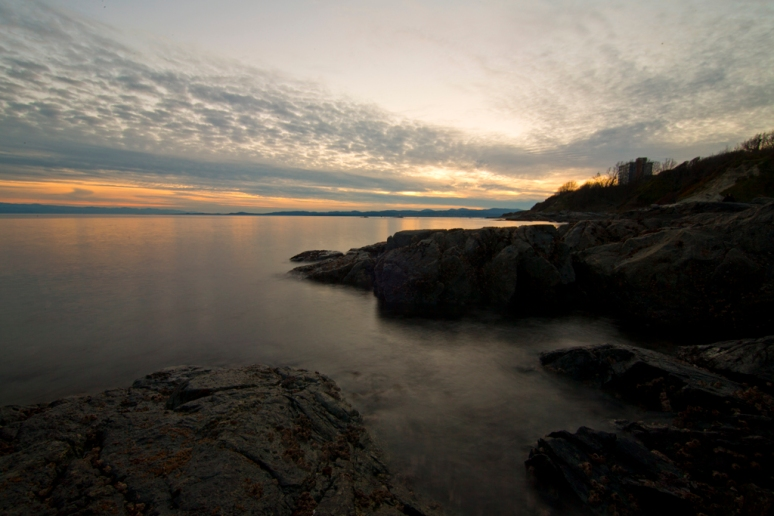 Sunset off Dallas Road Beach in Victoria, BC.